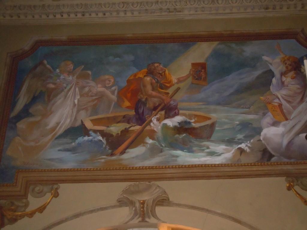 Affresco all'interno del Santuario raffigurante Andrea Anfosso