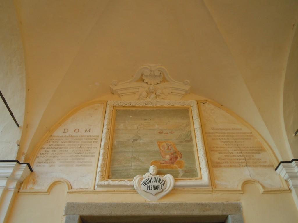 Iscrizione riguardante la storia del Santuario di Lampedusa