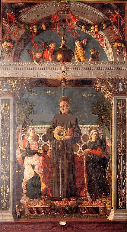 Mantegna,_san_bernardino_tra_angeli